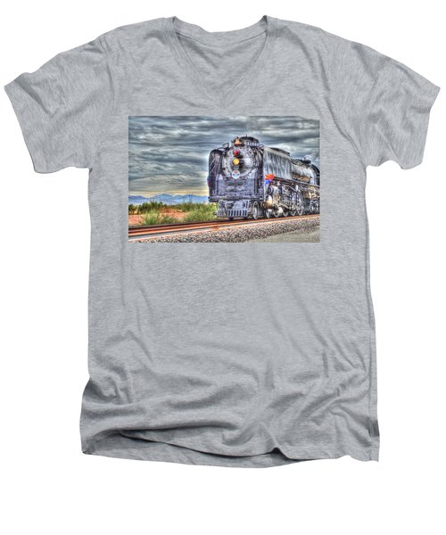 Steam Train No 844 Men's V-Neck T-Shirt