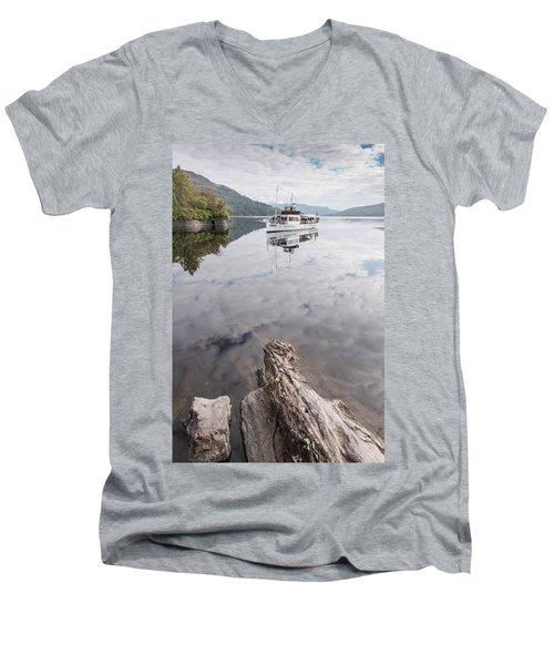 Steamship Sir Walter Scott On Loch Katrine Men's V-Neck T-Shirt
