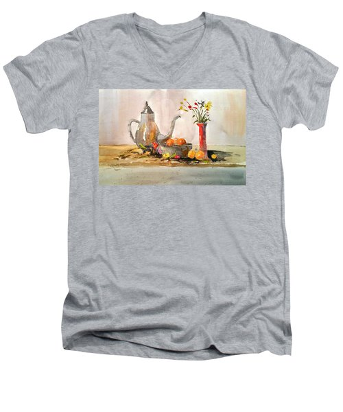 Still Life Men's V-Neck T-Shirt by Larry Hamilton