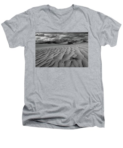 Storm Over Sand Dunes Men's V-Neck T-Shirt