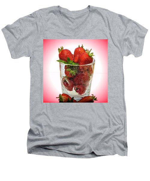 Strawberry Dessert Men's V-Neck T-Shirt