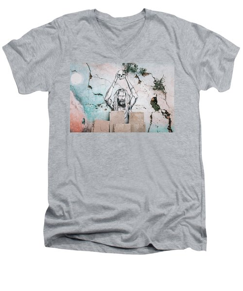 Street Art Men's V-Neck T-Shirt