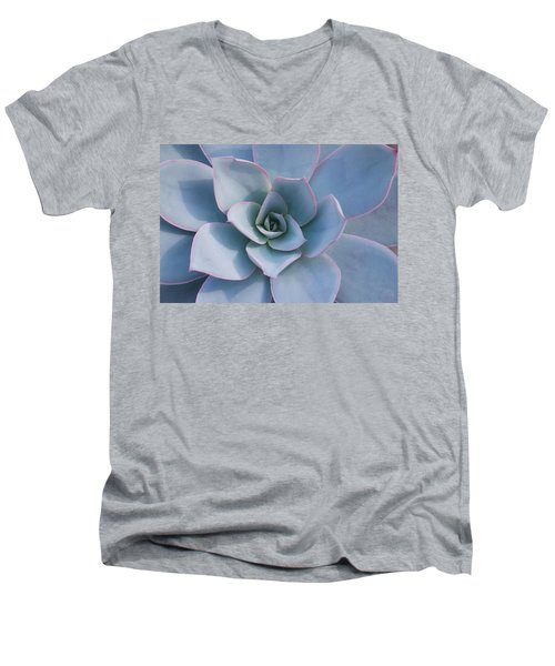 Men's V-Neck T-Shirt featuring the photograph Succulent Beauty by Catherine Lau