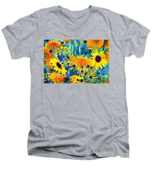 Men's V-Neck T-Shirt featuring the photograph Summer Bouquet by Byron Varvarigos