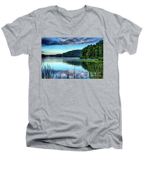 Summer Morning On The Lake Men's V-Neck T-Shirt