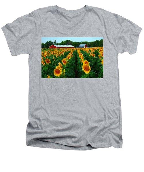 Sunflower Field #4 Men's V-Neck T-Shirt