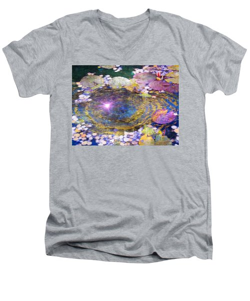 Sunglint On Autumn Lily Pond II Men's V-Neck T-Shirt
