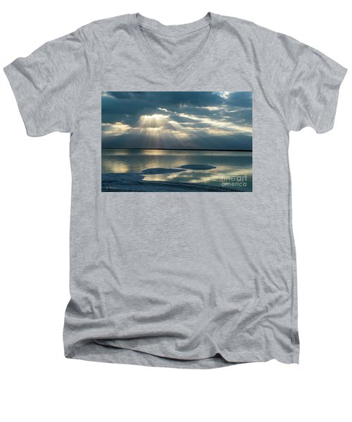 Sunrise At The Dead Sea Men's V-Neck T-Shirt