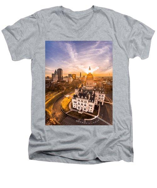 Sunrise In Hartford, Connecticut Men's V-Neck T-Shirt