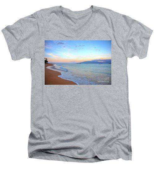 Sunrise On Kaanapali Men's V-Neck T-Shirt