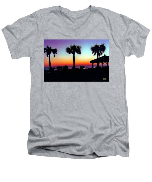 Sunrise On Ormond Beach Men's V-Neck T-Shirt