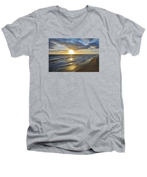 Sunrise On The Banks  Men's V-Neck T-Shirt