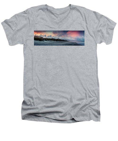 Sunset Emerald Isle Crystal Coast Men's V-Neck T-Shirt