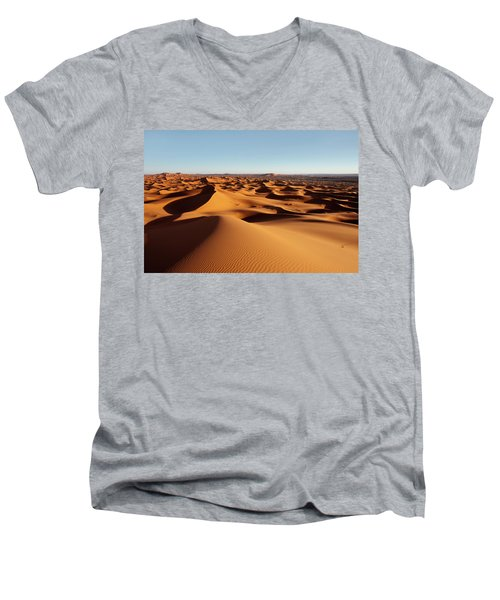 Sunset In Erg Chebbi Men's V-Neck T-Shirt