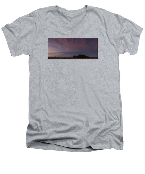 Sunset Over The Wetlands Men's V-Neck T-Shirt