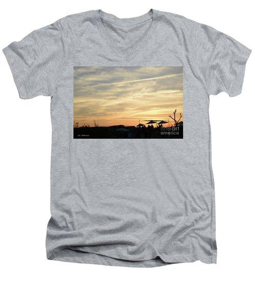 Sunset View Men's V-Neck T-Shirt