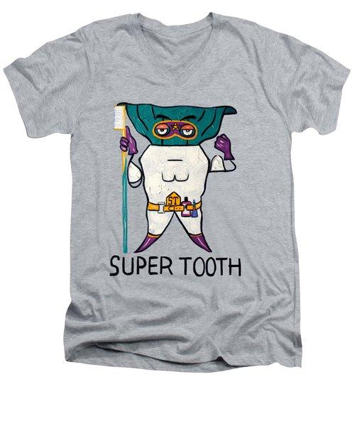 Super Tooth Men's V-Neck T-Shirt