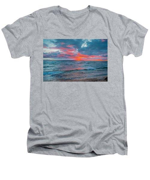 Superior Sunset Men's V-Neck T-Shirt