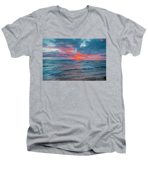 Superior Sunset Men's V-Neck T-Shirt
