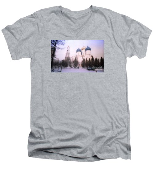 Suzdal  Russia Church Men's V-Neck T-Shirt