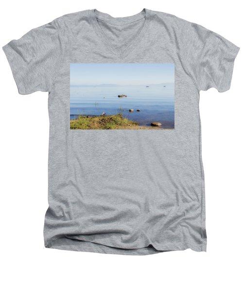 Tahoe Ripple Men's V-Neck T-Shirt