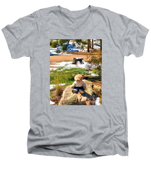 Takin' A Break Men's V-Neck T-Shirt