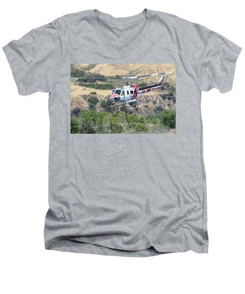 Taking Off Men's V-Neck T-Shirt by Shoal Hollingsworth
