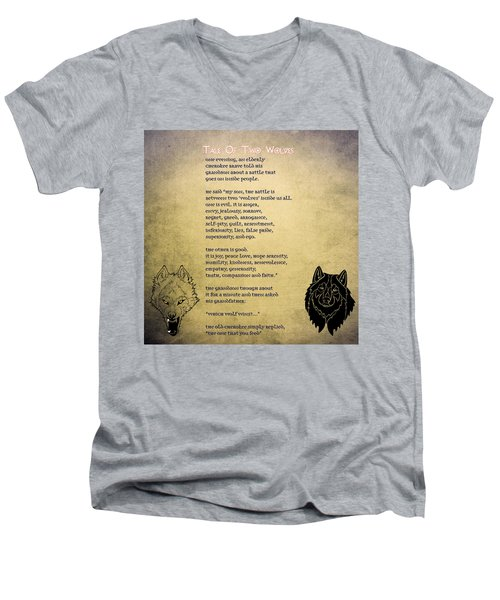 Tale Of Two Wolves - Art Of Stories Men's V-Neck T-Shirt