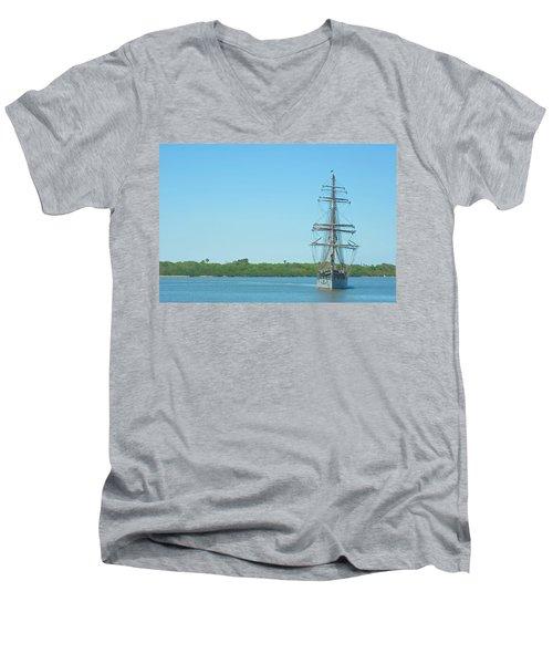 Tall Ship Elissa Men's V-Neck T-Shirt