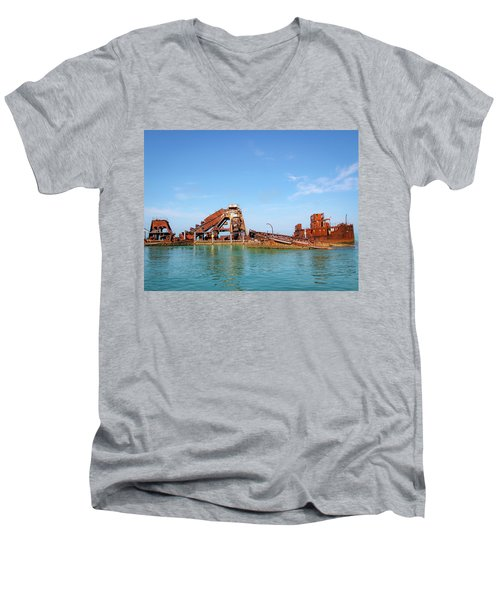 Tangalooma Wrecks Men's V-Neck T-Shirt