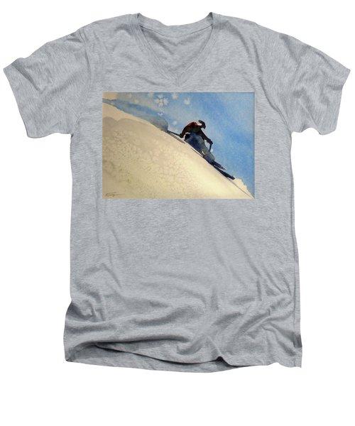 Taos Men's V-Neck T-Shirt by Ed Heaton