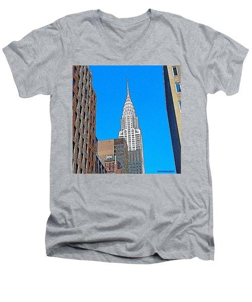 #tbt - #newyorkcity June 2013 Men's V-Neck T-Shirt