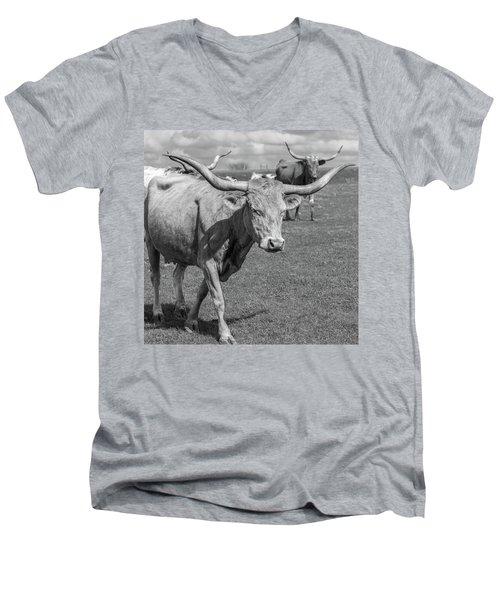 Texas Longhorns Men's V-Neck T-Shirt