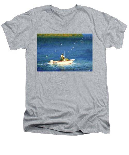 The Bayman Men's V-Neck T-Shirt