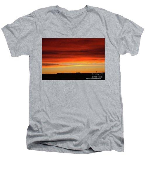 The Buttes At Sundown Men's V-Neck T-Shirt