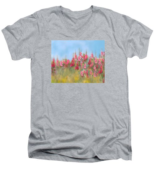 The Earth Laughs In Flowers Men's V-Neck T-Shirt