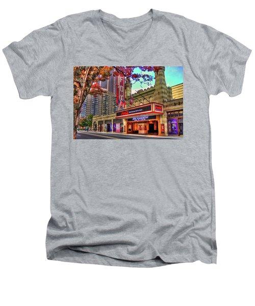 The Fabulous Fox Theatre Atlanta Georgia Art Men's V-Neck T-Shirt by Reid Callaway