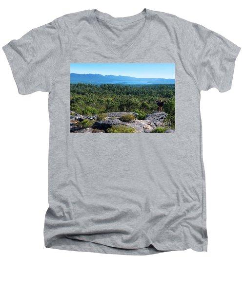 The Grampians  Men's V-Neck T-Shirt