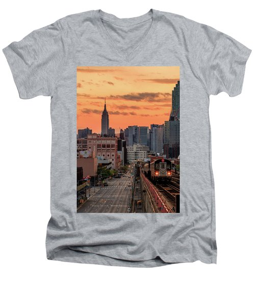 The Heart Of The City Men's V-Neck T-Shirt