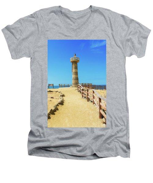 The Lighthouse In Salinas, Ecuador Men's V-Neck T-Shirt