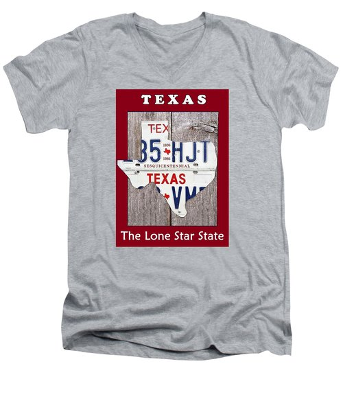 The Lone Star State Men's V-Neck T-Shirt