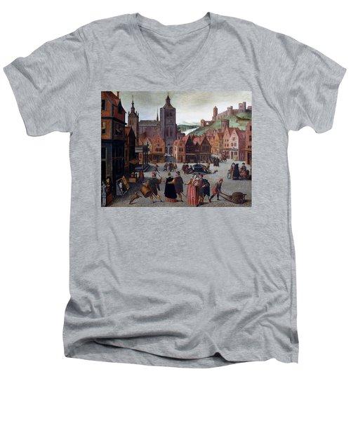 The Marketplace In Bergen Op Zoom Men's V-Neck T-Shirt