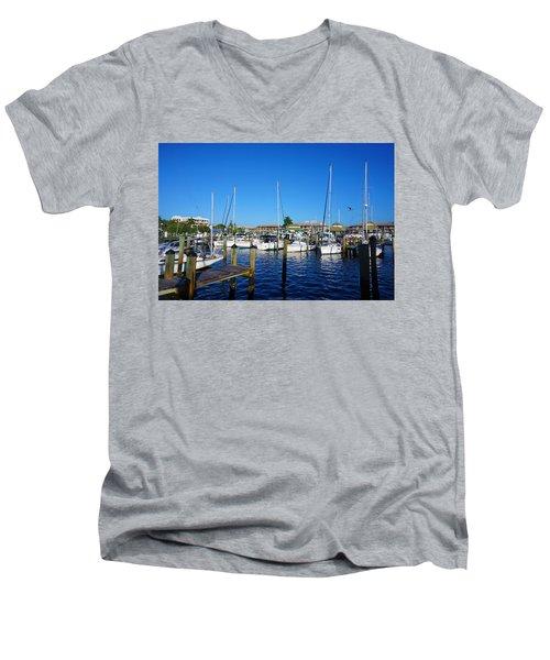 The Naples City Dock Men's V-Neck T-Shirt