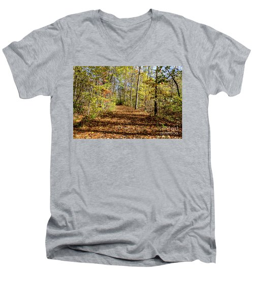 The Outlet Trail Men's V-Neck T-Shirt by William Norton