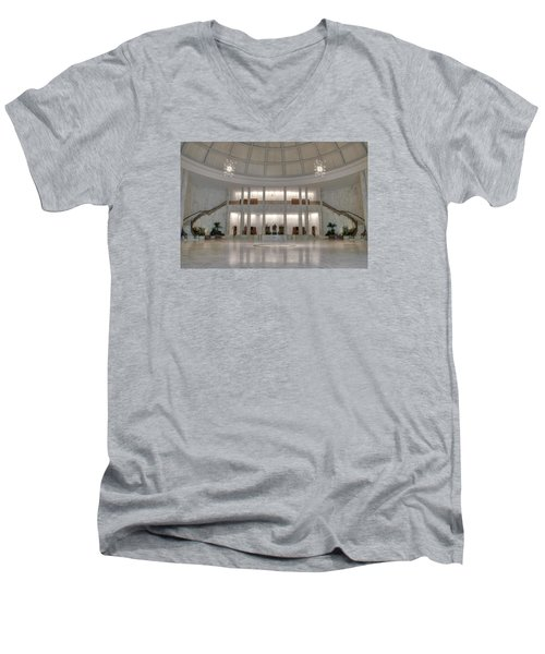 The Rotunda Men's V-Neck T-Shirt by Mark Dodd