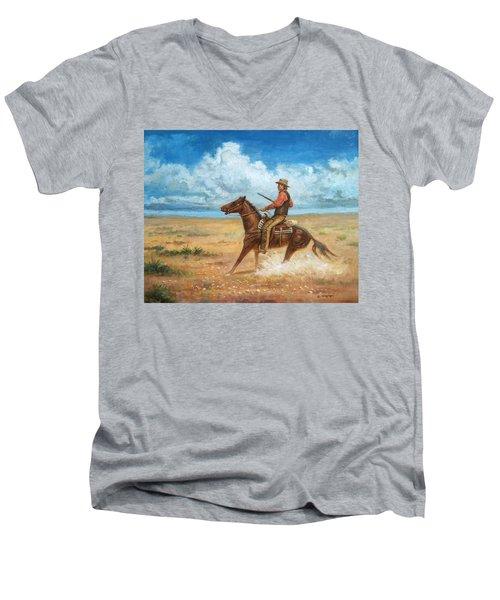 The Tracker Men's V-Neck T-Shirt