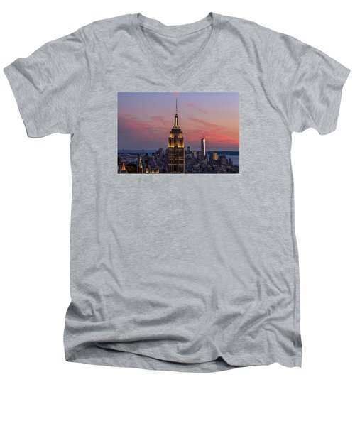 The View Men's V-Neck T-Shirt by Anthony Fields