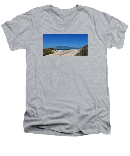 Men's V-Neck T-Shirt featuring the photograph The View At Table Mountain by Werner Lehmann