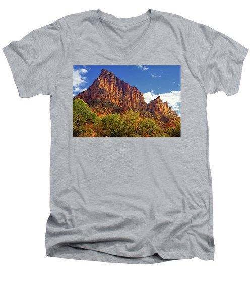 The Watchman Men's V-Neck T-Shirt by Raymond Salani III