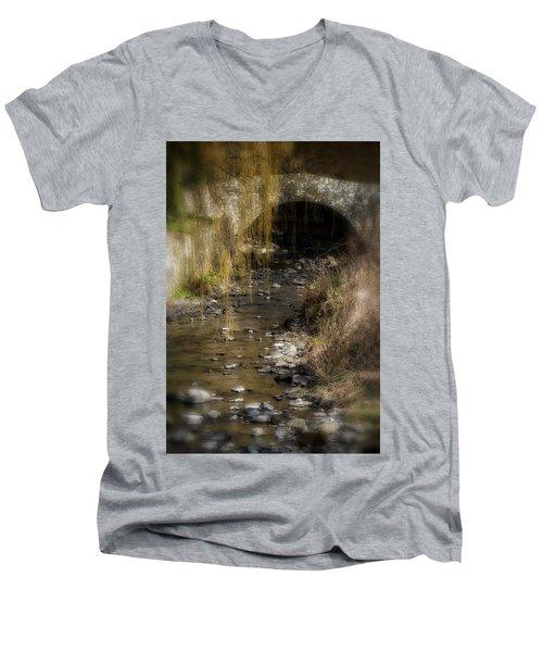 The Wee Bridge Men's V-Neck T-Shirt